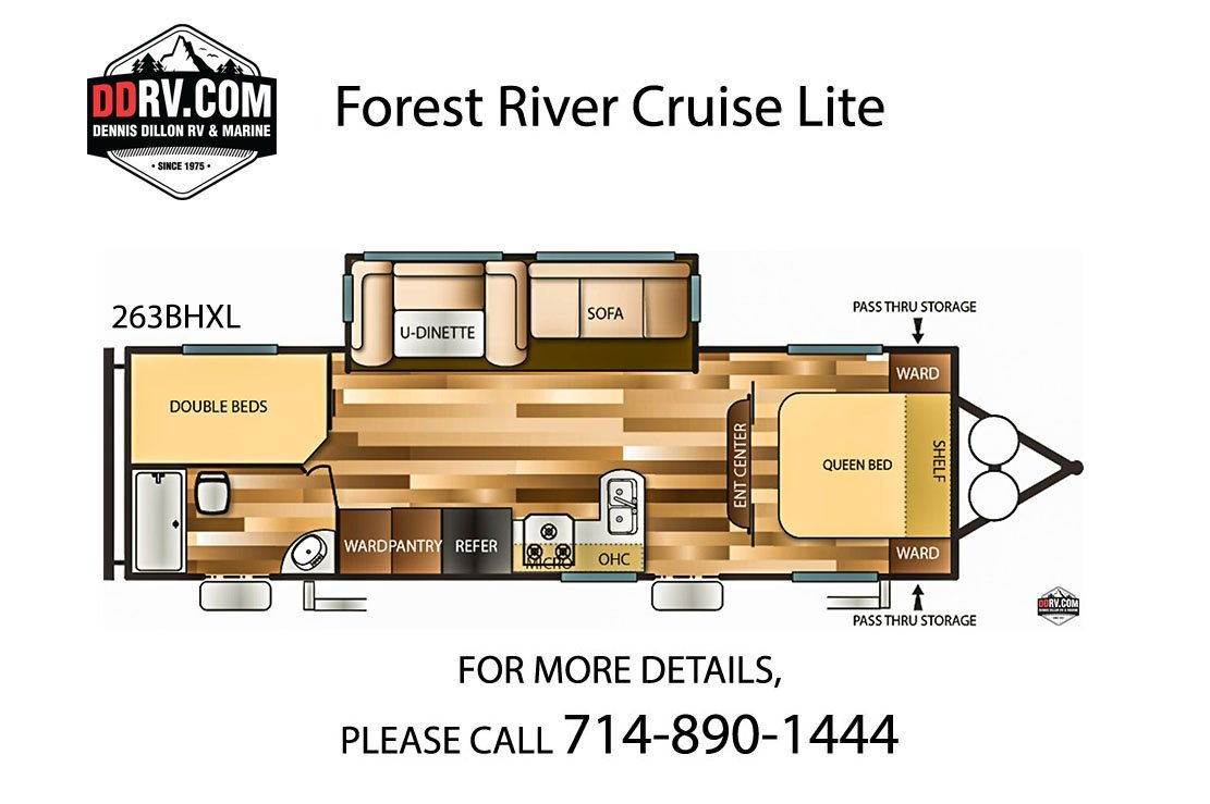 Pre-Owned 2019 FOREST RIVER CRUISE LITE 263BHXL