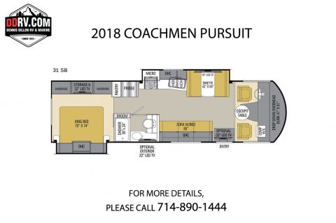 New 2018 COACHMEN PURSUIT 31SB